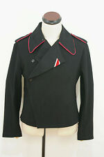 WWII German Heer hot pink collar thread panzer black wool wrap/jacket XL