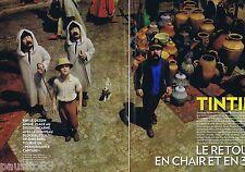 COUPURE DE PRESSE CLIPPING 2011 Tintin en 3 D (6 pages)