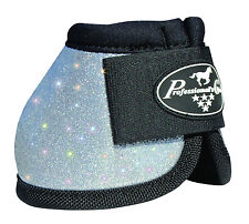 Silver GLITTER Large Professionals Choice Horse Over-Reach Bell Boots