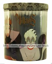DISNEY 150 Cotton Buds Swabs VILLAINS Plastic Container Holder HALLOWEEN Black
