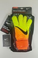 NEW Nike GK Vapor Grip 3 Soccer Goalie Goalkeeper Gloves Volt/Orange Size 8