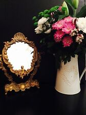 Stunning Vintage French Brass Cherub Dressing Table Mirror