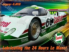 Motor Racing,Castrol Jaguar-XJR10 Le Mans,Garage Race Car Large Metal/Tin Sign