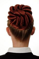 Hair Bun bun Hair piece large braided Curls Red Copper red N794-350