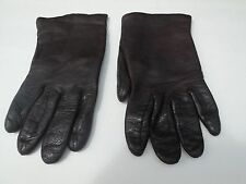 CARSON PIRIE SCOTT LADIES BROWN LEATHER  GLOVES ACRYLIC LINING SIZE 6.5