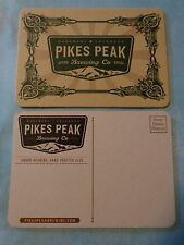 Beer Coaster Postcard ~*~ PIKES PEAK Brewing Co    Monument, COLORADO Since 2011