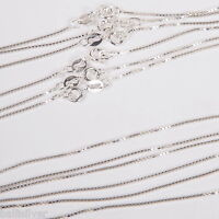 """SALE! 50 Sterling Silver 925 Italian 18"""" BOX CHAINS Lot"""