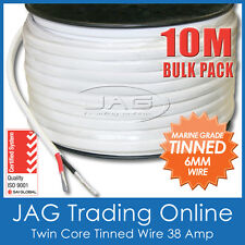 10M x 6mm MARINE GRADE TINNED 2-CORE TWIN SHEATH WIRE / BOAT ELECTRICAL CABLE