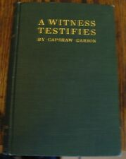 A Witness Testifies Capshaw Carson Philosophy God Exists Free US Shipping Rare