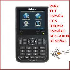 BUSCADOR SENAL TDT MEDIDOR DE CAMPO TV DVB-T TERRESTRE SATLINK WS-6905 ESPAÑA