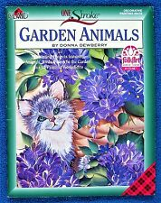 Rare One Stroke Garden Animals Painting Book Donna Dewberry Step-by-Step -Unused