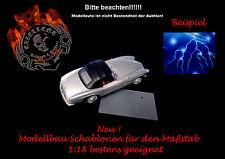 Modellbau / Airbrush Schablone 013 Blitz mit Stern 2