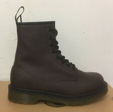 DR. MARTENS 1460  OXBLOOD ELK  LEATHER  BOOTS SIZE UK 9