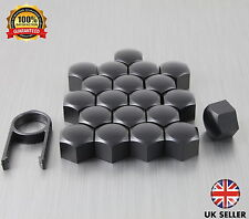 20 Car Bolts Alloy Wheel Nuts Covers 17mm Black For Renault Captur