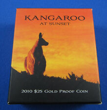 2010 Kangaroo at SUNSET gold coin. 99.99% pure and in immaculate condition