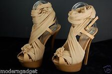 GORGEOUS !!! FENDI  RUNWAY 'Cinderella' wrap around platform sandals EU 39 US 9