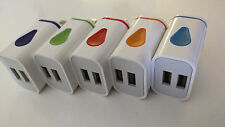Wholesale Lot TEN (10) x Light up Dual Port Color USB Wall Charger 12v 2a