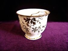 Victorian White English Bone China w Gold Floral Filigree MOUSTACHE CUP Teacup