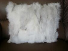 "1 FRESHLY TANNED NORWEGIAN BLUE FOX  FUR PILLOW 19 "" X 16"" cushion throw"