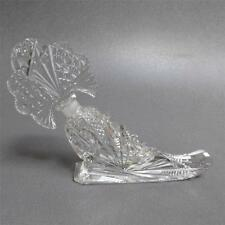 CZECH MULTI FACETTED LARGE CORNUCOPIA CRYSTAL PERFUME BOTTLE WITH LABEL