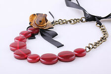 MARNI BEAUTIFUL RED FLOWER NECKLACE NEW WITH DUSTBAG