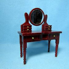 Dollhouse Miniature Vanity Table with Mirror and Drawers ~ WF086