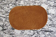"#5113A Lot 2Pcs 7"" Brown Suede Leather Oval Elbow Knee Patches Repair Appliqué"