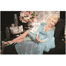 Dolly Parton Lounging on Chair with Big Smile 8 x 10 Inch Photo