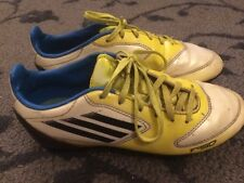 ADIDAS F-50 SYNTHETIC SOCCER SHOES CLEATS SIZE 3 YOUTH YELLOW AND WHITE