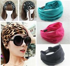 New Sexy Women Cotton Elastic Sports Wide Head Hairband Headwrap Headband