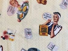 RPG448 Kellogg's Cereal Retro Vintage 50's Style House Wife Quilt Cotton Fabric