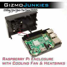Raspberry Pi 3 Enclosure with Fan & Heatsinks - Overclock w/ Confidence (B+/2B)
