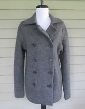 J.Crew Womens Gray Wool Sweater Peacoat Jacket Coat M