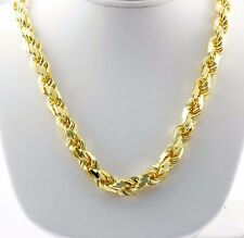 """317 gm 14K Yellow Solid Gold Diamond Cut Men's Rope Chain Necklace 30"""" 11.50 mm"""