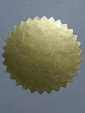 """Notary Glossy Gold Foil Serrated Starburst Seals 2"""" Diam Seals 20 labels sticker"""