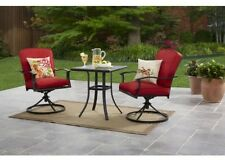 Patio Furniture Table And Chairs Bistro Set Swivel 3 Piece Outdoor Garden Seater