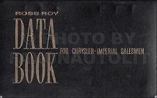 1963 Chrysler Data Book Dealer Album 300 300J New Yorker Newport Imperial