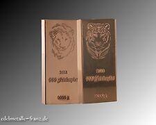 2x 1kg Kupferbarren Löwe Tiger 999 Feinkupfer Anlagebarren Rohstoff + Zertifikat