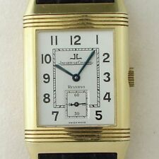 Jaeger-LeCoultre Reverse 18k Solid Gold Mens Watch With Original Box