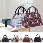 Men Women Canvas Large Insulated Lunch Box Bag Bento Cooler Tote Picnic 3 Colors