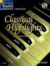 Classical Highlights Schott Piano Lounge Masterpieces Music Book CD B52 S93
