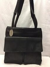 Kenneth Cole Large Leather Nylon Shoulder Bag Purse