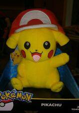 Pokemon Pikachu Plush Ash hat TOMY