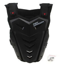 Black Chest Body Belly Back Protector Pad Armour Guard MMA Training Kick Boxing