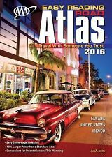 AAA Easy Reading Road Atlas 2016 by A. A. A. Publishing (2015, Paperback)