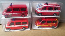 RIETZE- 4 x FORD TRANSIT Feuerwehr Frechen,Wülfrath usw. 50701,50523,50543,50621