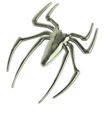 """3D Chrome SPIDER 2.5"""" x 2"""" Car, Truck, or Motorcycle Waterproof Decal"""