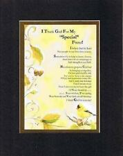 Touching & Heartfelt Poem for Friends - I Thank God for My Special Friend 11x14