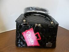 #w CABOODLES DAMAGED SQUISHED TRAIN CASE MAKEUP ORGANIZER BAG SASSY BLACK NEW