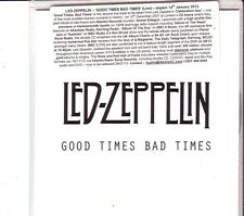 "LED ZEPPELIN ""Good Times Bad Times""  1 Live Track Promo CD RARE"